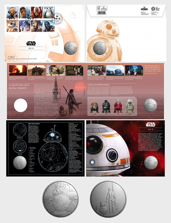 Star Wars: The Last Jedi - BB-8 Medal Cover - Medal Cover