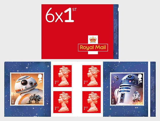 Star Wars: The Last Jedi - Retail Stamp Book - Droids - Stamp Booklet