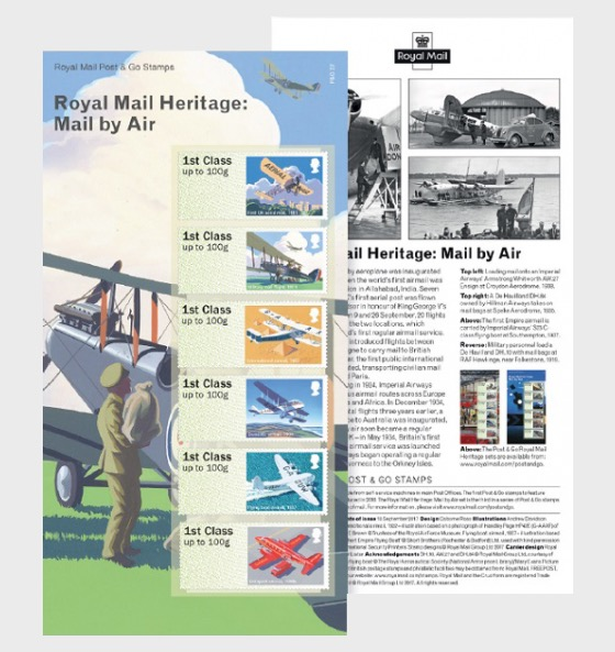Post & Go - Royal Mail Heritage: Mail by Air - Set