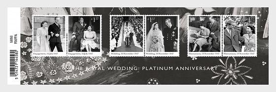 The Royal Wedding: Platinum Anniversary - Miniature Sheet