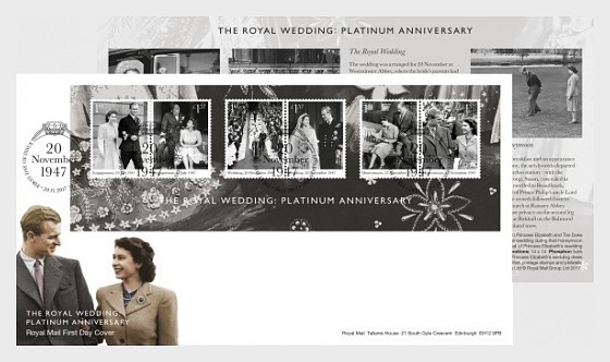 The Royal Wedding: Platinum Anniversary - First Day Cover