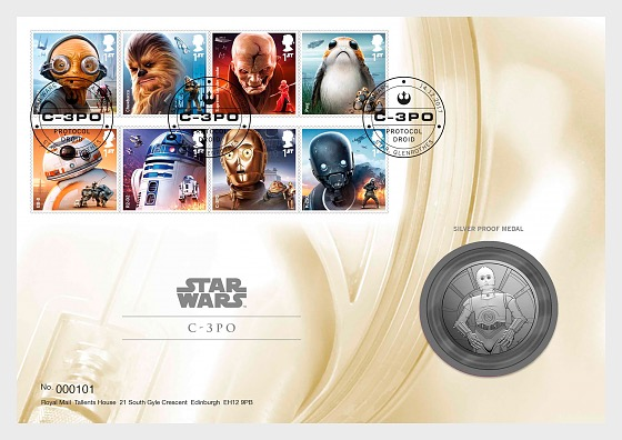 STAR WARS™: The Last Jedi - December Products - C3PO Medal Cover - Medal Cover