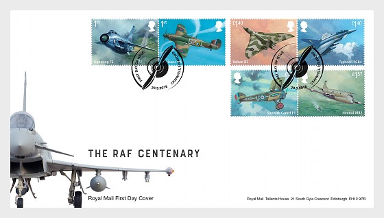The RAF Centenary - (FDC Set) - First Day Cover