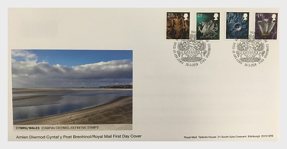2018 Country Definitives - (FDC Wales) - First Day Cover