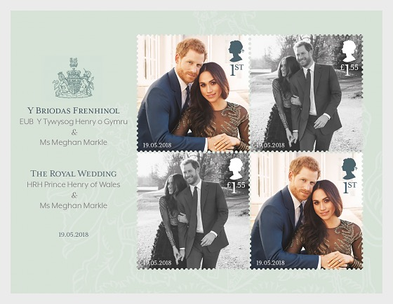 The Royal Wedding of HRH Prince Henry of Wales & Ms Meghan Markle - Miniature Sheet