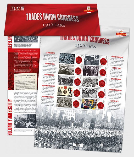 TUC Commemorative Sheet - Collectibles