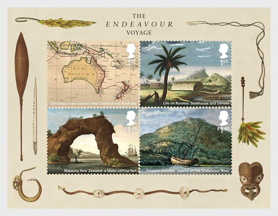 Captain Cook and the Endeavour Voyage - Miniature Sheet
