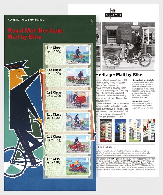Royal Mail Heritage - Mail By Bike - Set