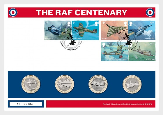The RAF Centenary - Coin Cover