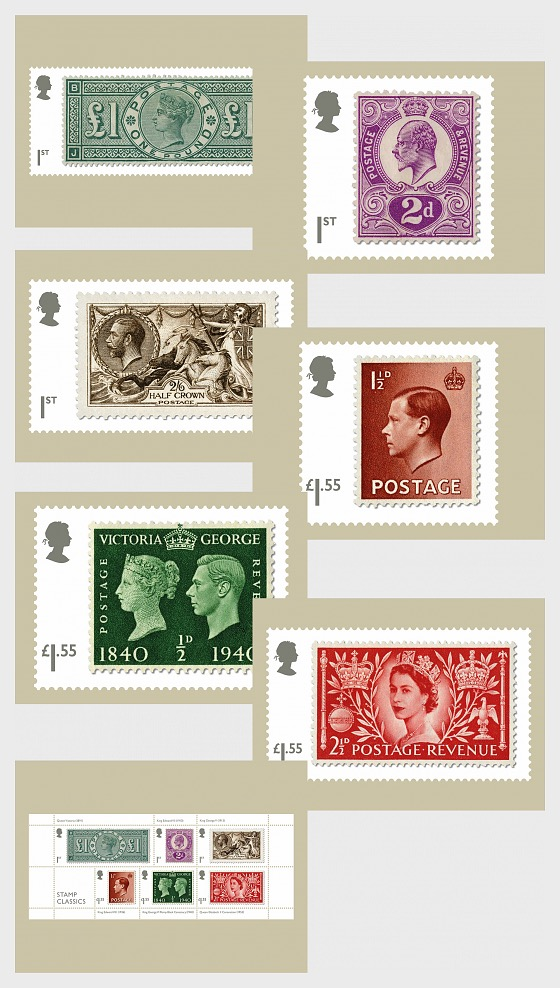 Stamp Classics - Postcard