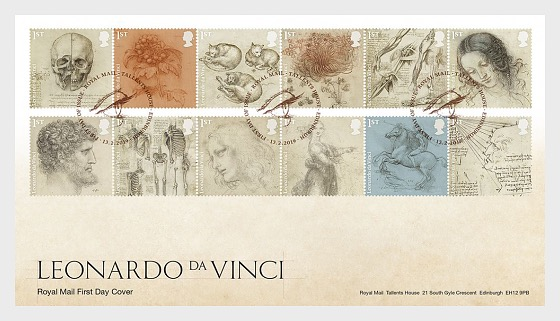 Leonardo da Vinci - First Day Cover