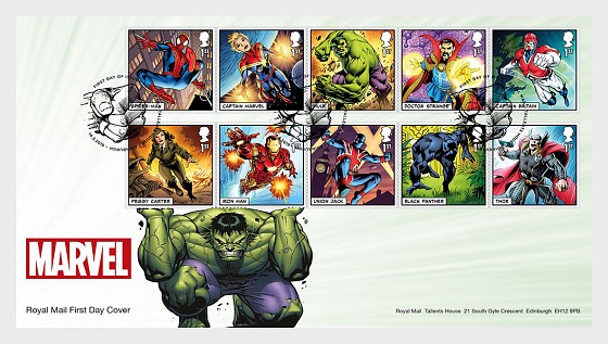 Marvel (FDC-Set) - First Day Cover