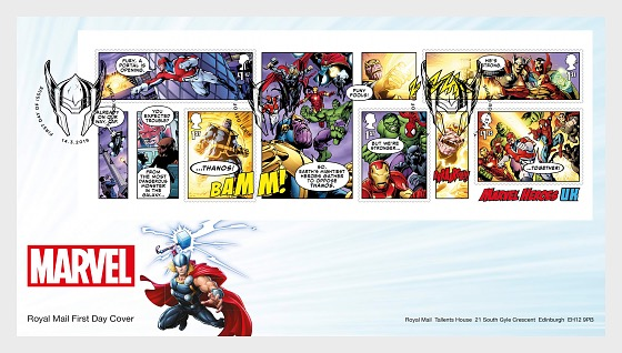 Marvel (FDC-MS) - First Day Cover