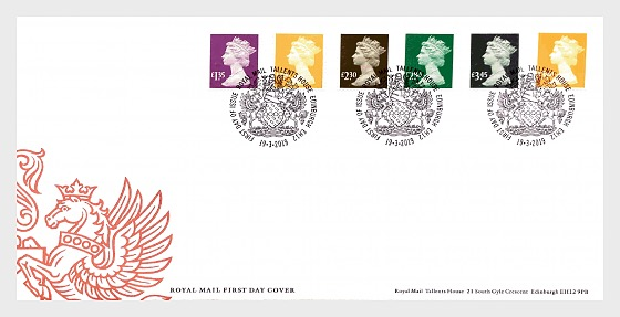 Tariff Machin Definitives 2019 - First Day Cover
