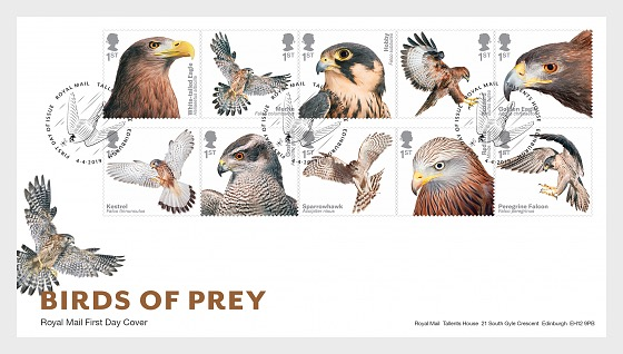 Birds of Prey - First Day Cover