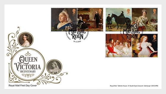 Queen Victoria Bicentenary (FDC-Set) - First Day Cover