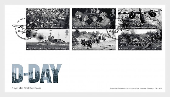 D-Day - FDC Set - First Day Cover