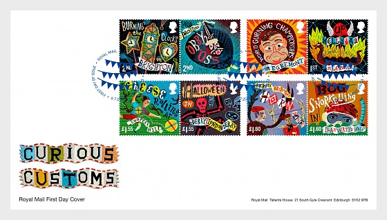 Curious Customs - First Day Cover