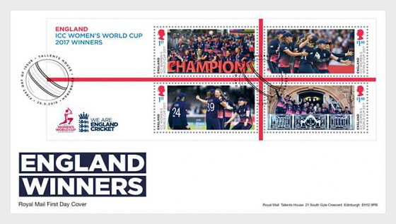 Cricket World Cup Winners - FDC Women's - First Day Cover