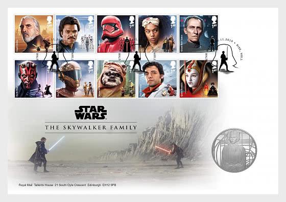 Star Wars III - Skywalker Family Medal Cover - Medal Cover