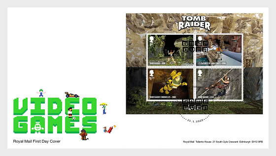 Video Games - FDC M/S - First Day Cover