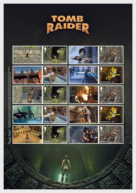 Video Games - Tomb Raider Collector's Sheet - Smillers
