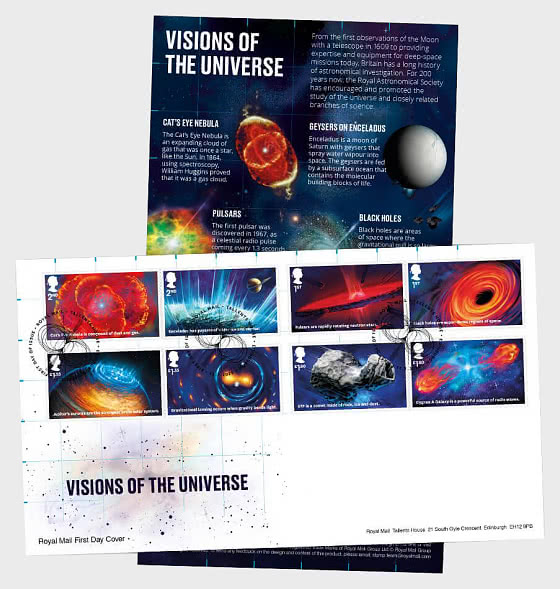 Visions of the Universe - First Day Cover