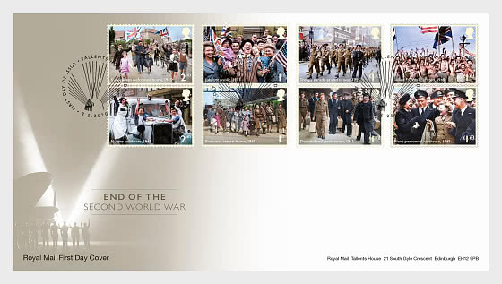 End of the Second World War FDC Set - First Day Cover