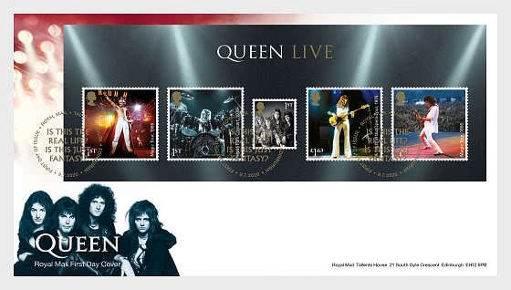 Music Giants IV - Queen - FDC MS - First Day Cover