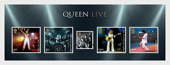Music Giants IV - Queen - Miniature Sheet