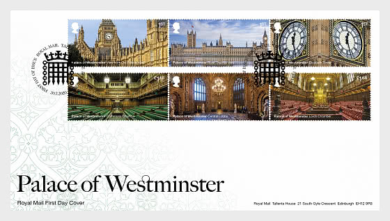 Palace of Westminster - FDC Set - First Day Cover