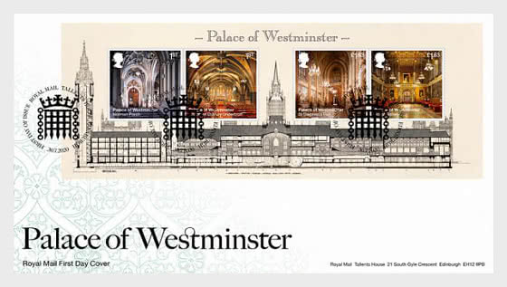 Palace of Westminster -FDC MS - First Day Cover