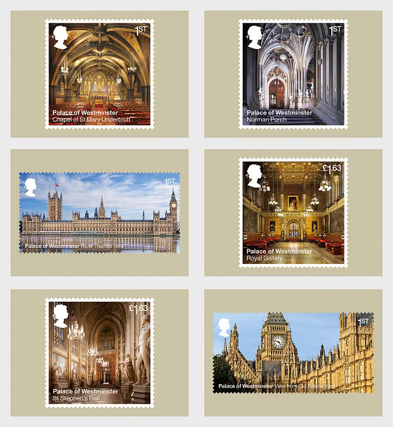 Palace of Westminster - Postcard