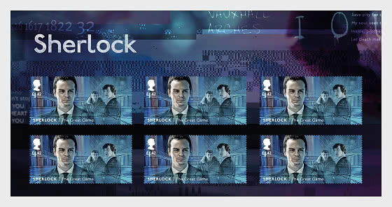 Sherlock - The Great Game Stamp Set - Collectibles