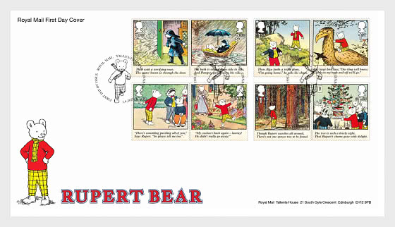 Rupert Bear - First Day Cover