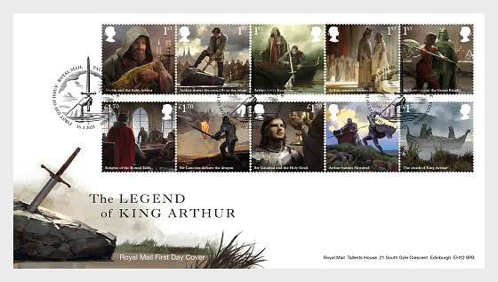 Legend of King Arthur - First Day Cover
