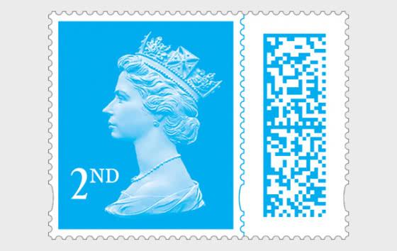 Machin 2nd Class Barcoded Stamp - Set