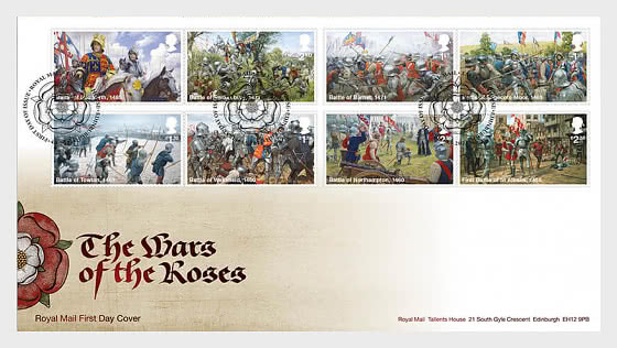 The Wars of the Roses - First Day Cover