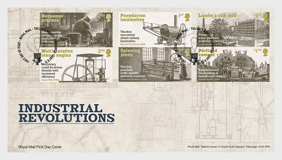 Industrial Revolutions - First Day Cover