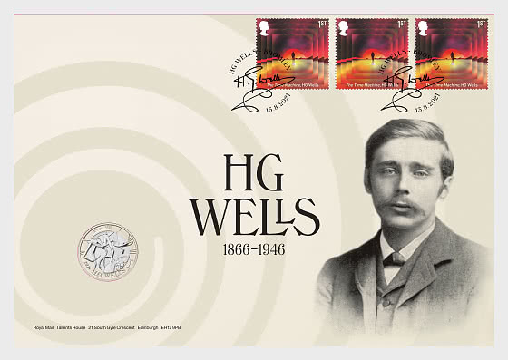 Classic Science Fiction - HG Wells Coin Cover - Coin Cover
