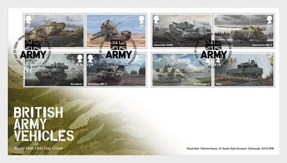 British Army Vehicles - First Day Cover