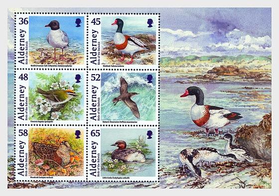Alderney Bailiwick Birds - Miniature Sheet