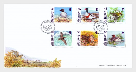 Alderney Bailiwick Birds - First Day Cover