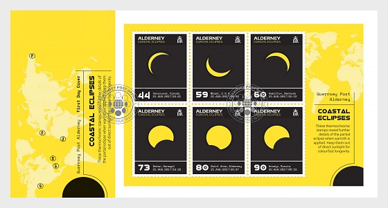 Alderney Coastal Eclipses (FDC-MS) - First Day Cover