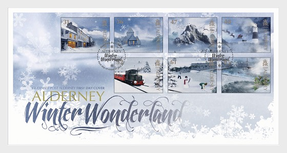 Alderney Winter Wonderland - First Day Cover