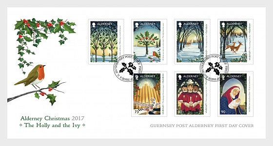 Christmas 2017 - The Holly and the Ivy - First Day Cover