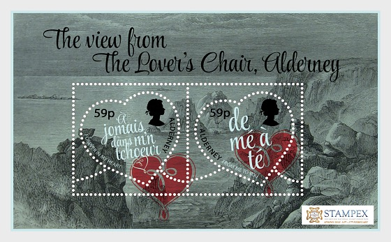 Stampex Valentine Exhibition Sheet 2018 - Miniature Sheet