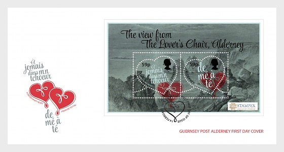 Stampex Valentine Exhibition Sheet 2018 - First Day Cover