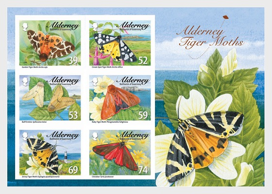Tiger Moths & Ermines - Miniature Sheet