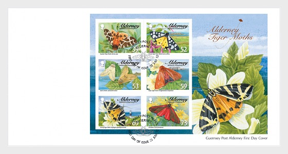 Tiger Moths & Ermines- FDC M/S - First Day Cover